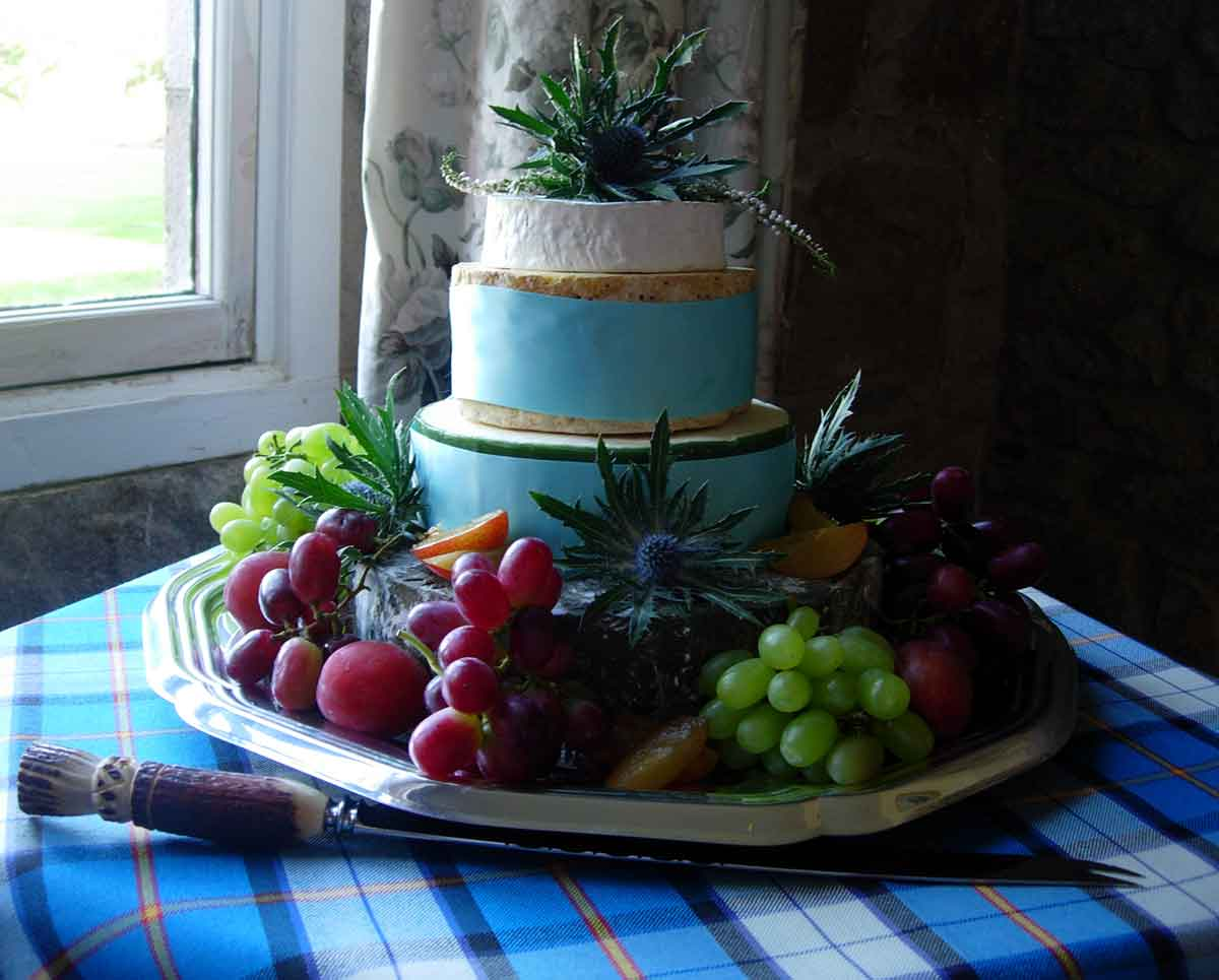 Scottish Cheese wedding cake