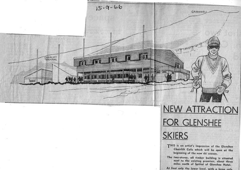 Newspaper cutting from 1966 of first Glenshee buildings