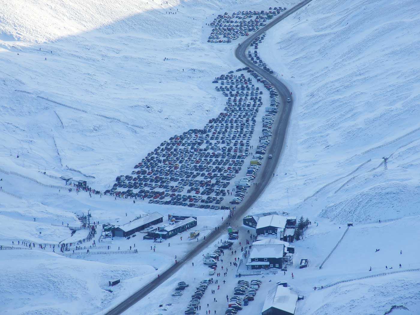 Parking Ticket Office And Cafe Facilities At Glenshee