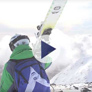 Shred the slopes skiing video