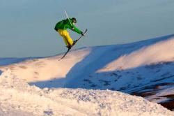 Sking at Glenshee in Scotland