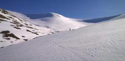 Off Piste in winter sunshine Scotland